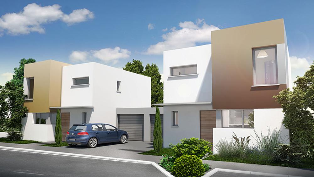 D4 commercialisation for Architecture petite villa moderne